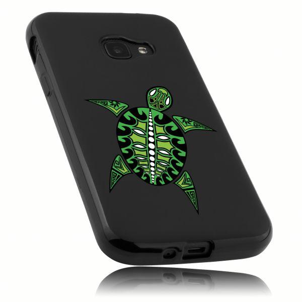 TPU Hülle schwarz Motiv Schildkröte für Samsung Galaxy Xcover 4 / 4s