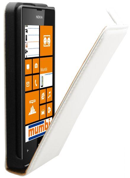 Flip Case Tasche weiß für Nokia Lumia 520