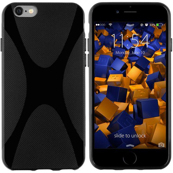 TPU Hülle X-Design schwarz für Apple iPhone 6 / 6s