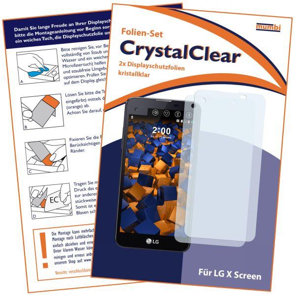 Displayschutzfolie 2 Stck. CrystalClear für LG X Screen