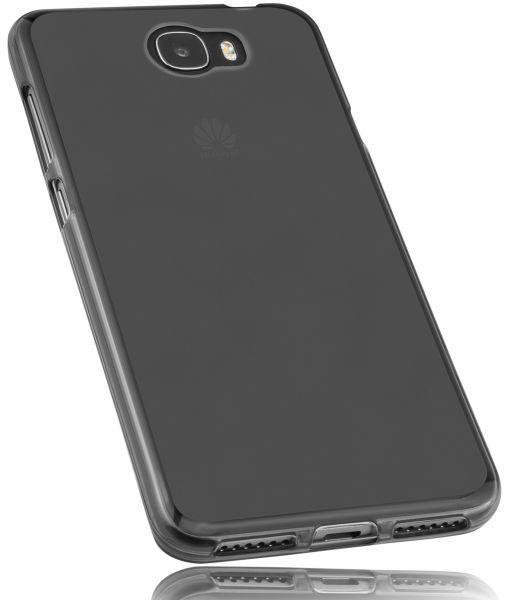 TPU Hülle schwarz transparent für Huawei Y6 II compact