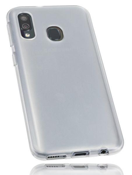 TPU Hülle weiß transparent für Samsung Galaxy A40