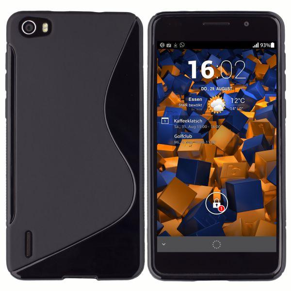 TPU Hülle S-Design schwarz für Huawei Honor 6
