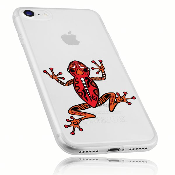 TPU Hülle Ultra Slim UV beständig transparent Motiv Frosch für Apple iPhone 8 / 7