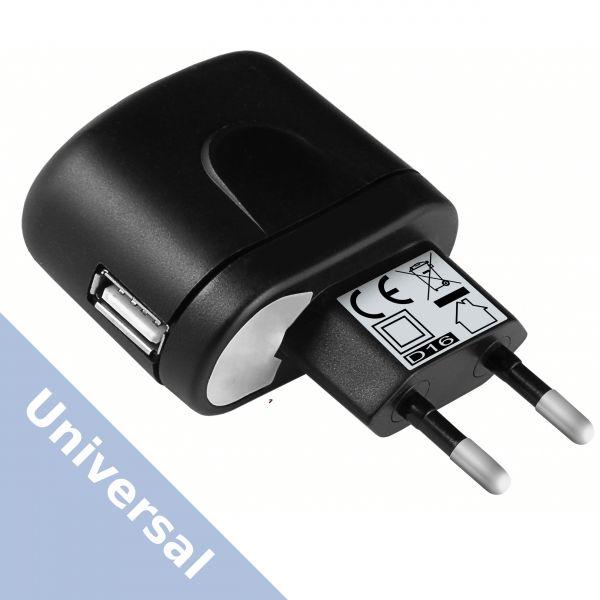 Universal Ladegerät Ladeadapter 1000 mA Steckernetzteil - USB A Buchse schwarz