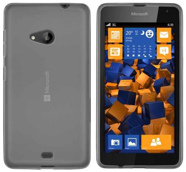 TPU Hülle transparent schwarz für Microsoft Lumia 535