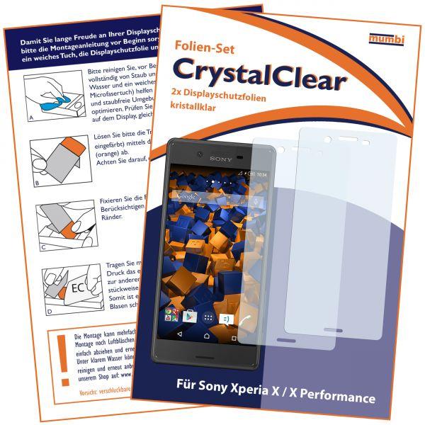Displayschutzfolie 2 Stck. CrystalClear für Sony Xperia X und X Performance