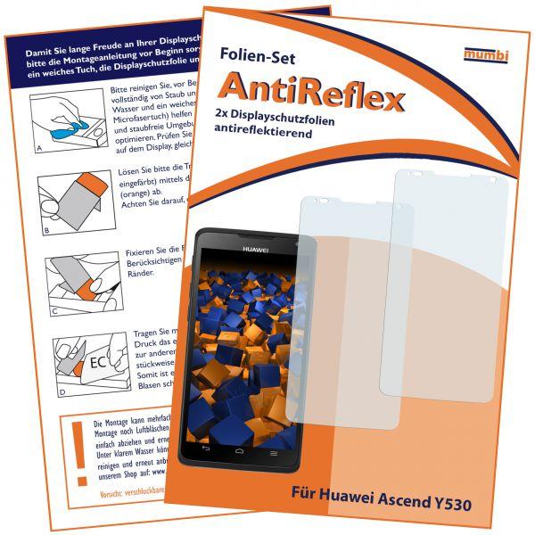 Displayschutzfolie 2 Stck. AntiReflex für Huawei Ascend Y530