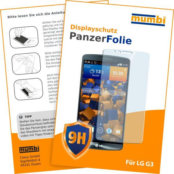 Panzerglasfolie Hartglas 9H für LG G3