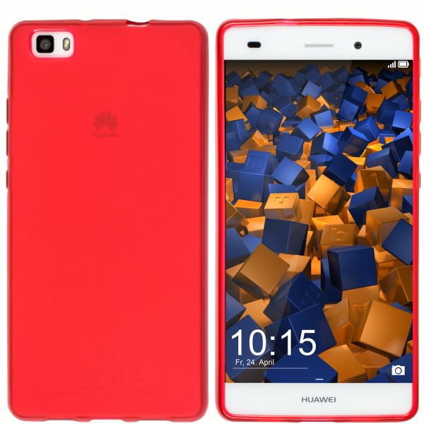 TPU Hülle rot transparent für Huawei P8 Lite (2015)