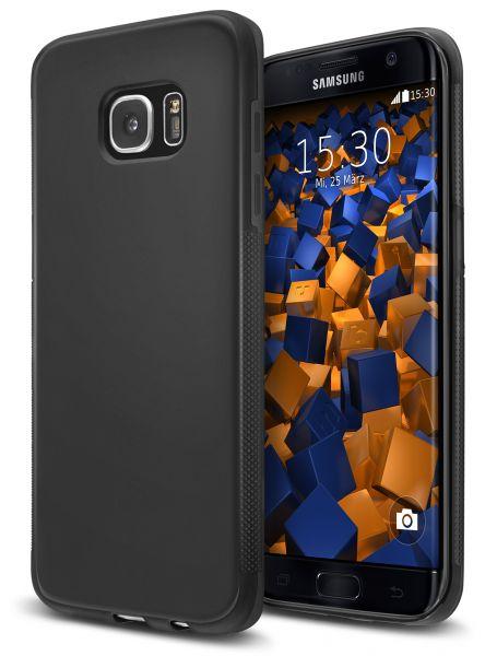 TPU Hülle double GRIP schwarz für Samsung Galaxy S7 Edge