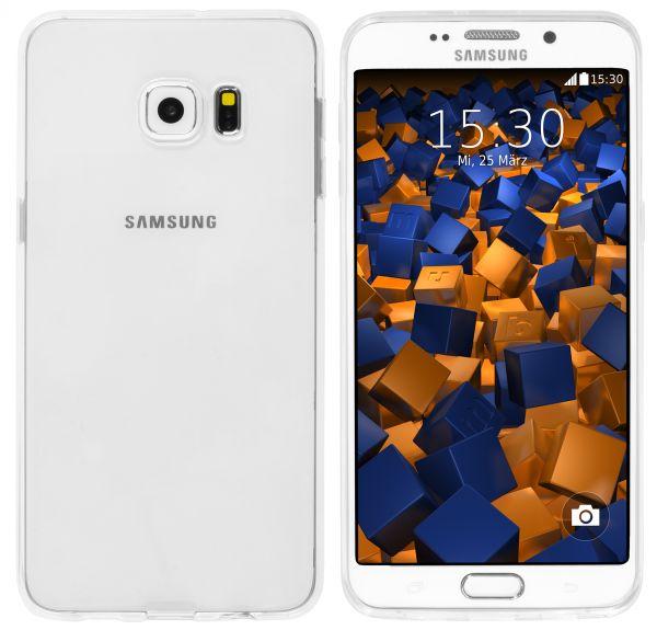 TPU Hülle Ultra Slim weiß transparent für Samsung Galaxy S6 Edge Plus