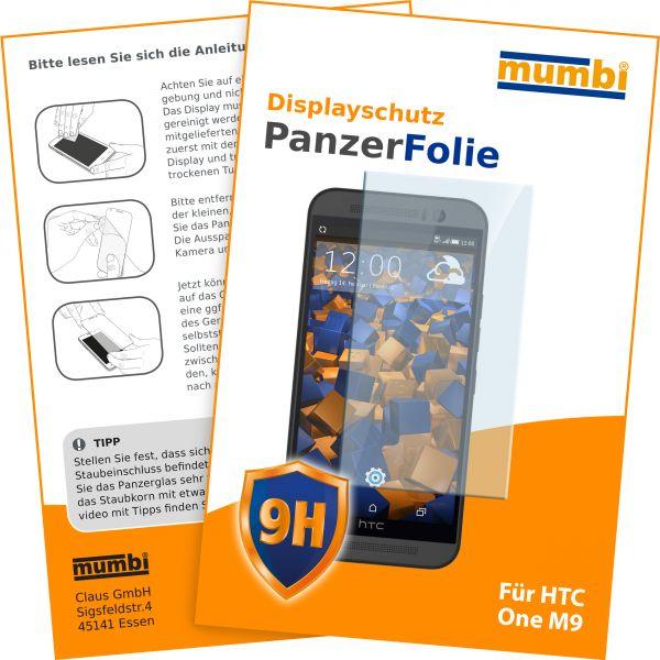 Panzerglasfolie Hartglas 9H für HTC One M9