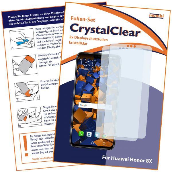 Displayschutzfolie 2 Stck. CrystalClear für Huawei Honor 8X