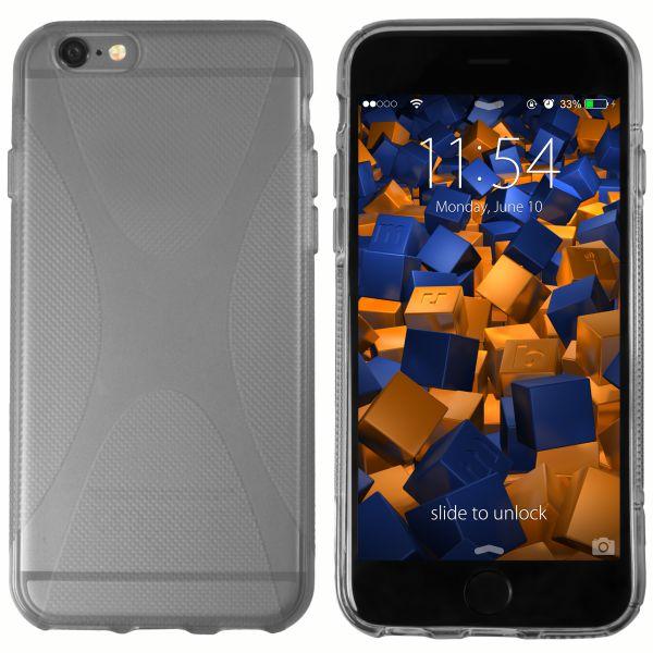 TPU Hülle X-Design transparent schwarz für Apple iPhone 6 / 6s