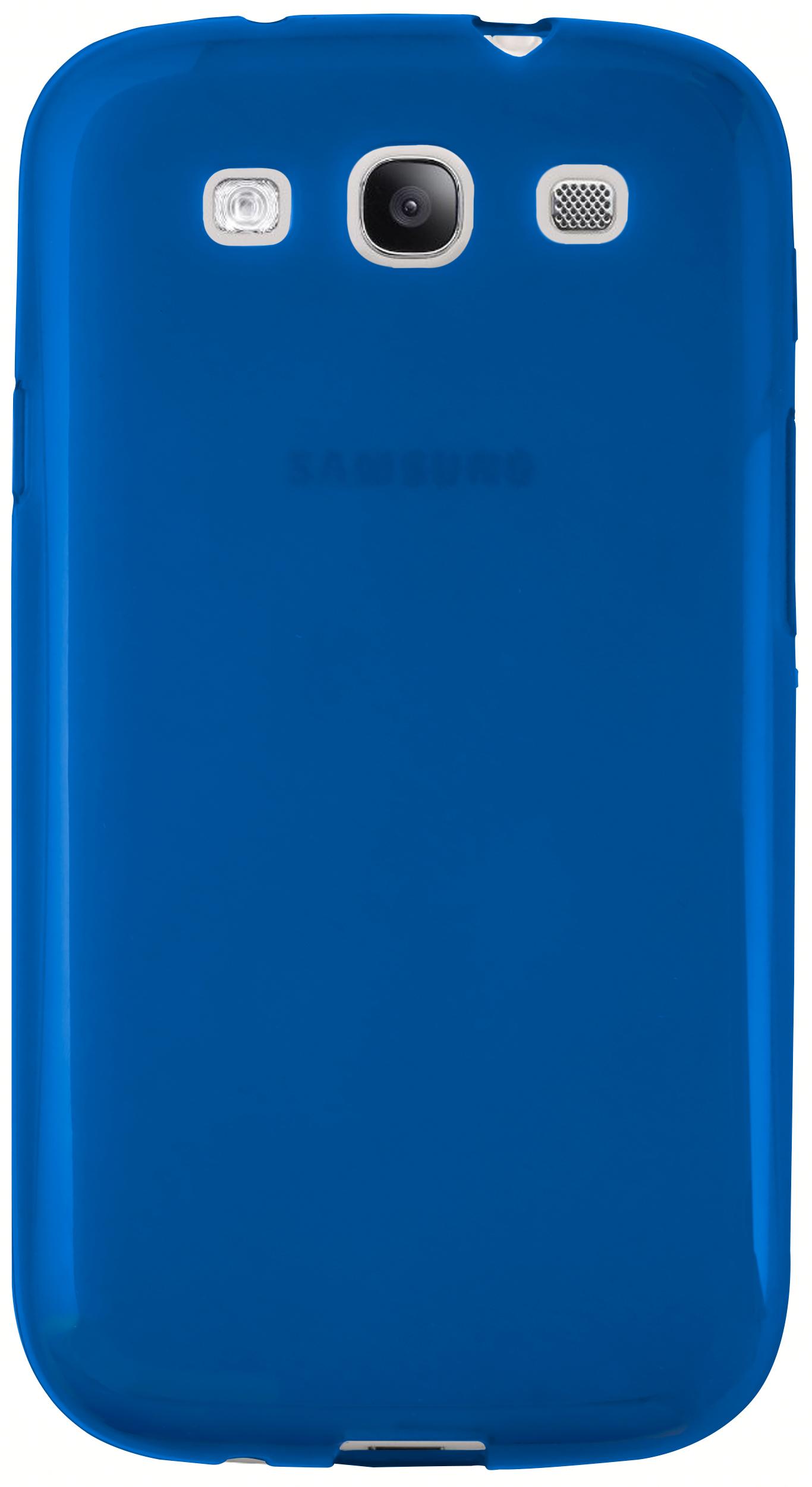 mumbi TPU Hülle blau transparent für Samsung Galaxy S3 ...