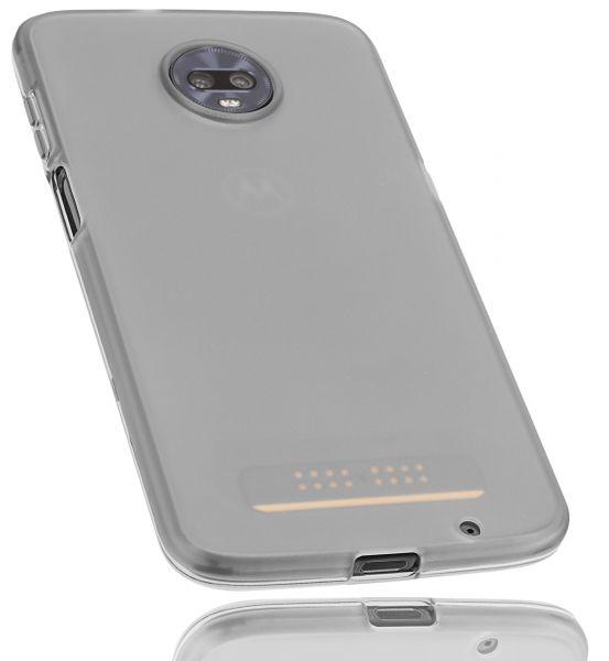 TPU Hülle schwarz transparent für Motorola Moto Z3 Play