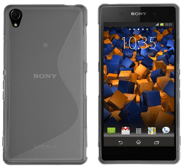 TPU Hülle S-Design schwarz transparent für Sony Xperia Z3 / Z3 Dual