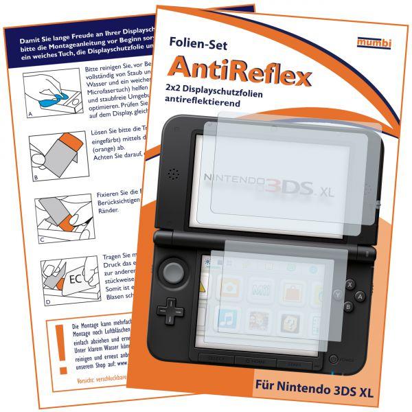 Displayschutzfolie 4 Stck. AntiReflex für Nintendo 3DS XL