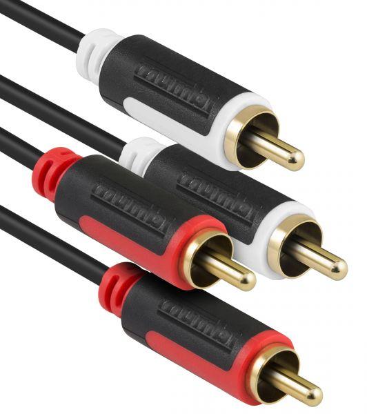 Audiokabel 2x RCA Cinch auf 2x RCA Cinch Stecker 5m