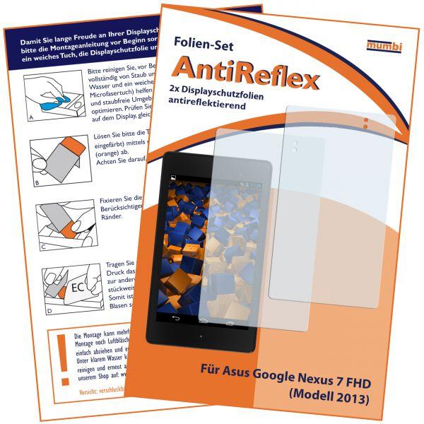 Displayschutzfolie 2 Stck. AntiReflex für Asus Google Nexus 7 FHD (Modell 2013)