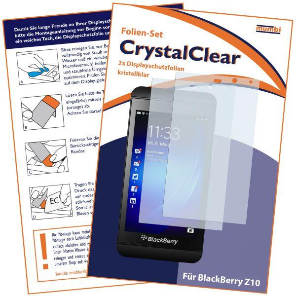 Displayschutzfolie 2 Stck. CrystalClear für BlackBerry Z10