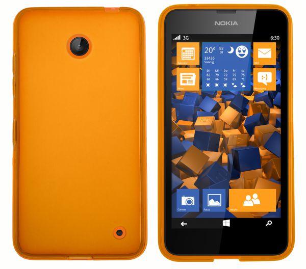 TPU Hülle transparent orange für Nokia Lumia 630 / 635