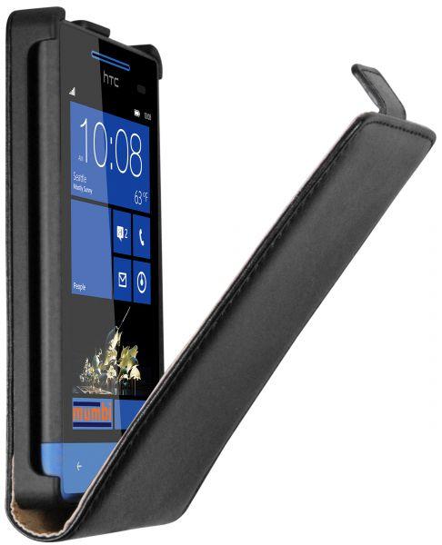 Flip Case Tasche schwarz für HTC Windows Phone 8S