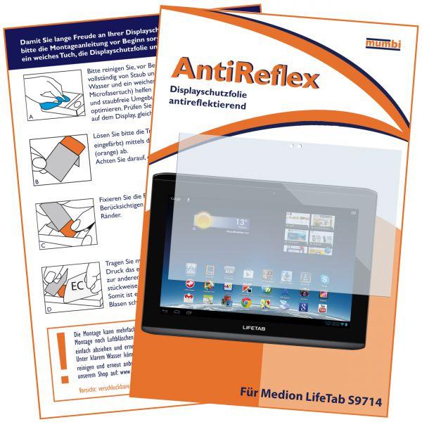 Displayschutzfolie AntiReflex für Medion LifeTab S9714