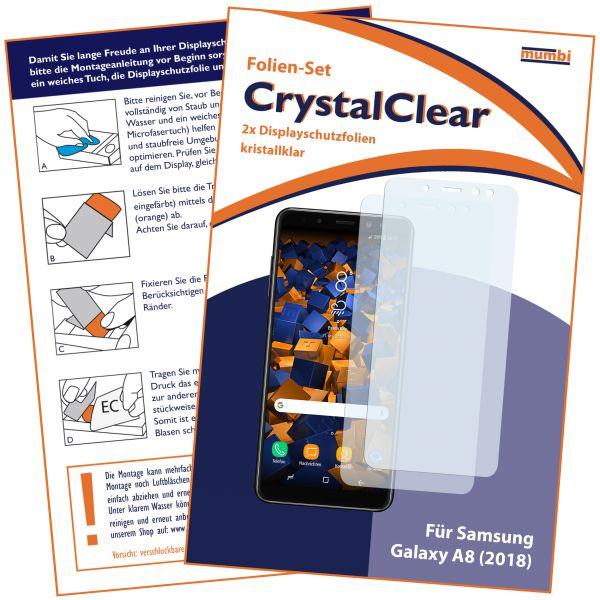 Displayschutzfolie 2 Stck. CrystalClear für Samsung Galaxy A8 (2018)