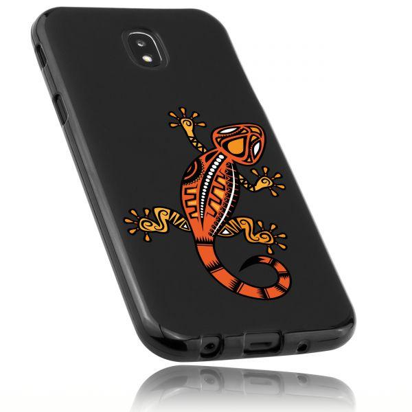 TPU Hülle schwarz Motiv Gecko für Samsung Galaxy J5 (2017)