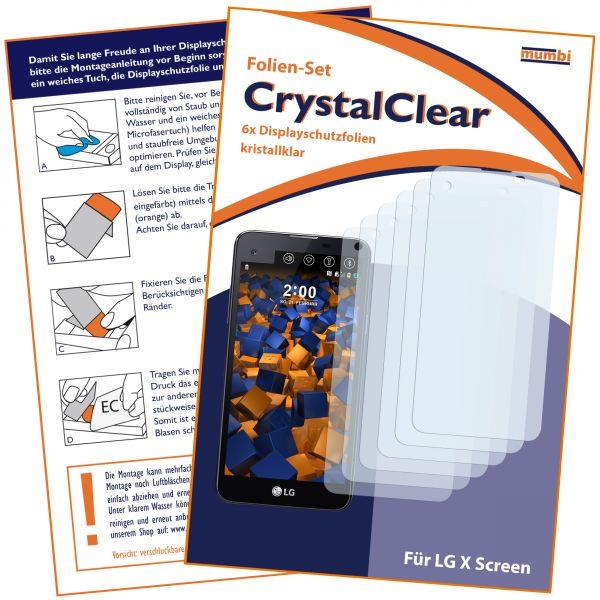 Displayschutzfolie 6 Stck. CrystalClear für LG X Screen
