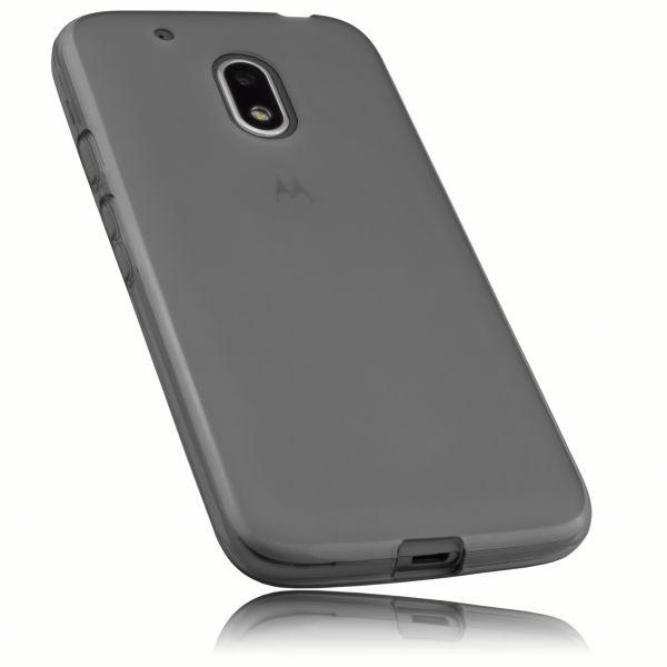 TPU Hülle schwarz transparent für Lenovo Moto G4 Play