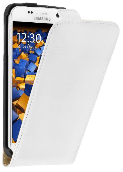 Flip Case Ledertasche weiß für Samsung Galaxy S7