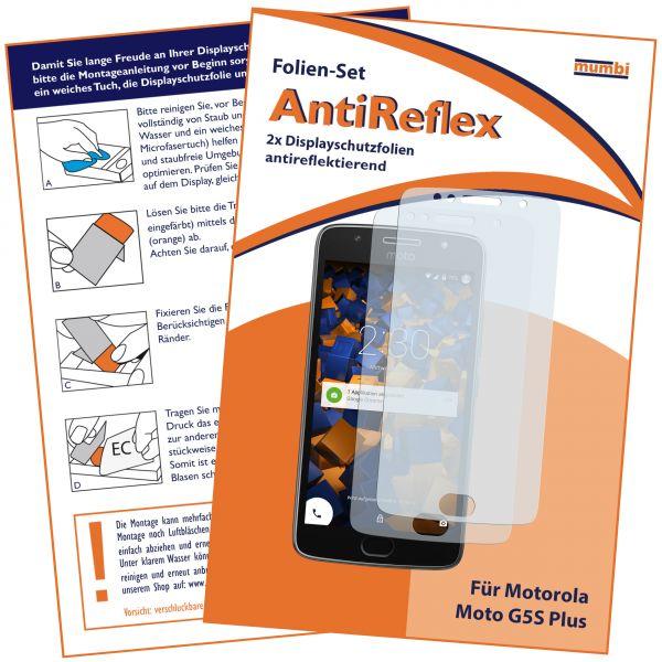 Displayschutzfolie 2 Stck. AntiReflex für Motorola Moto G5S Plus