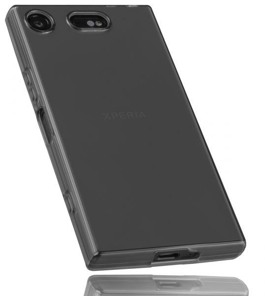 TPU Hülle schwarz transparent für Sony Xperia XZ1 Compact