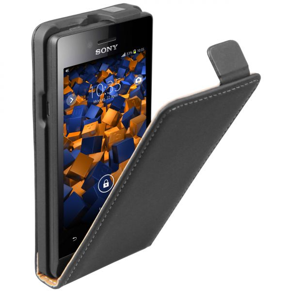 Flip Case Tasche schwarz für Sony Xperia Miro