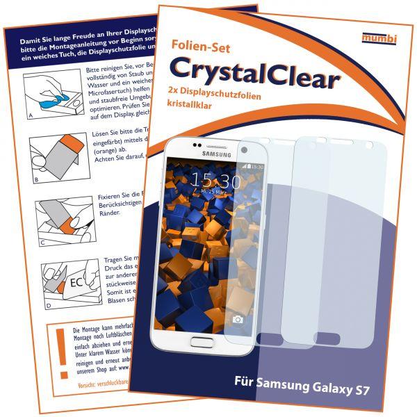 Displayschutzfolie 2 Stck. CrystalClear für Samsung Galaxy S7