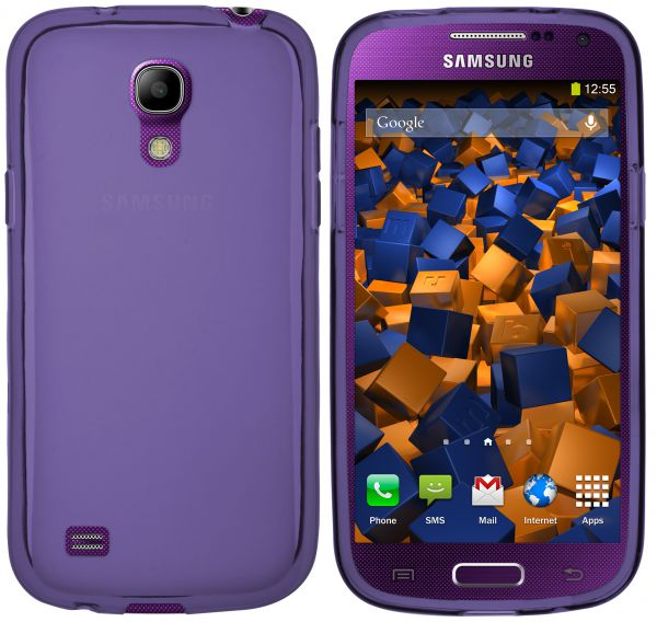 TPU Hülle transparent lila für Samsung Galaxy S4 Mini