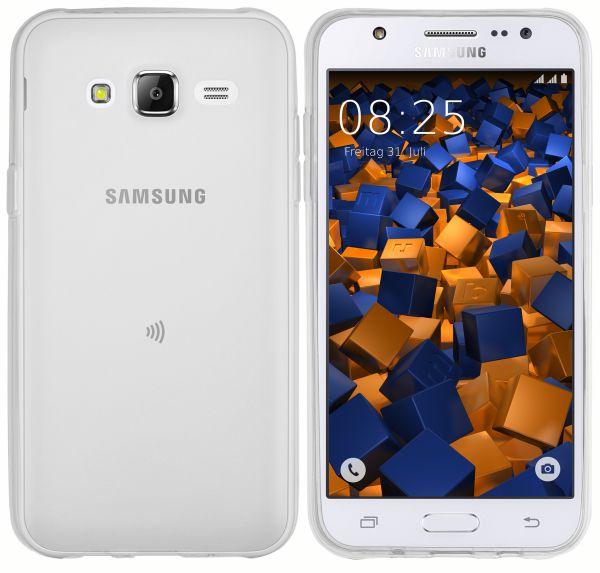 TPU Hülle transparent weiß für Samsung Galaxy J5 (2015)