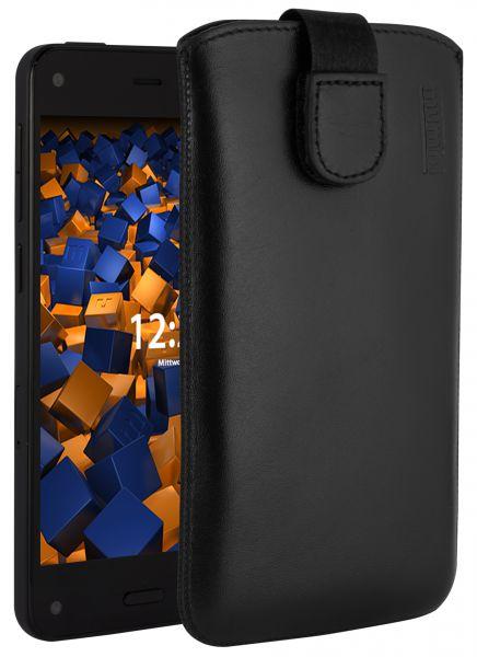 Leder Etui Tasche mit Ausziehlasche schwarz für Amazon Fire Phone