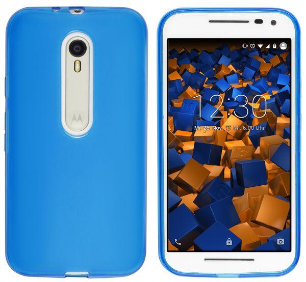 TPU Hülle blau transparent für Motorola Moto G 3. Generation