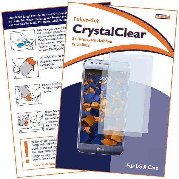 Displayschutzfolie 2 Stck. CrystalClear für LG X Cam