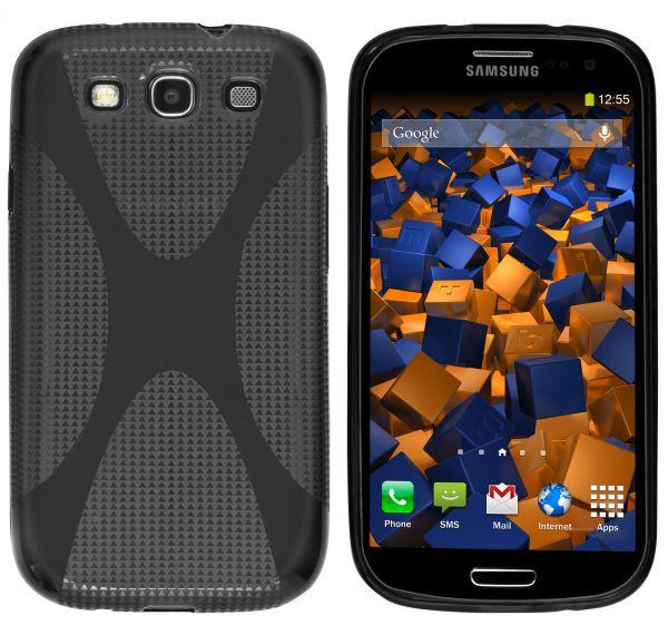 TPU Hülle X-Design schwarz transparent für Samsung Galaxy S3 / S3 Neo