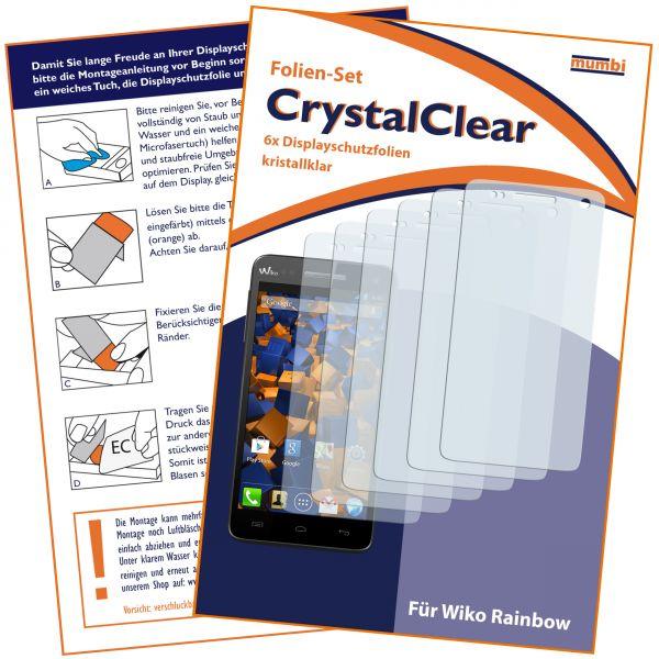 Displayschutzfolie 6 Stck. CrystalClear für Wiko Rainbow