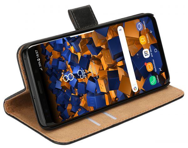 Bookstyle Tasche schwarz für Samsung Galaxy S9