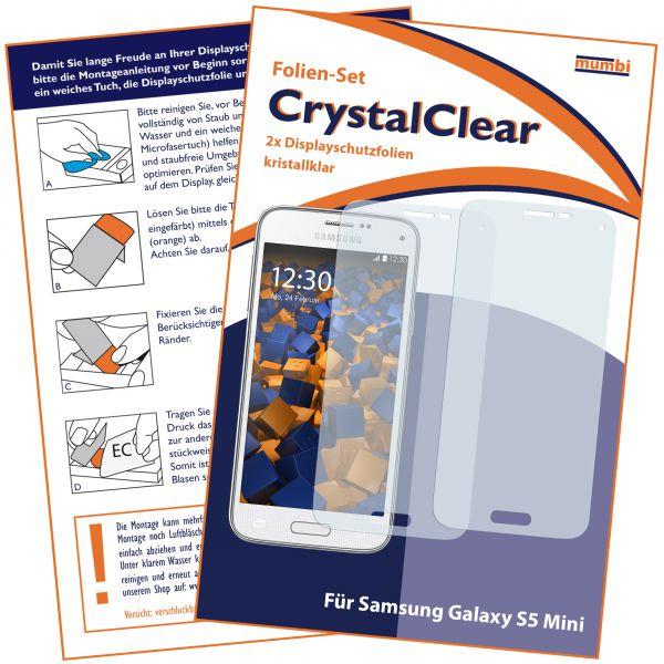 Displayschutzfolie 2 Stck. CrystalClear für Samsung Galaxy S5 Mini