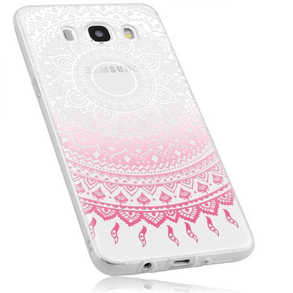 TPU Hülle rosa transparent Motiv Mandala für Samsung Galaxy J5 (2016)