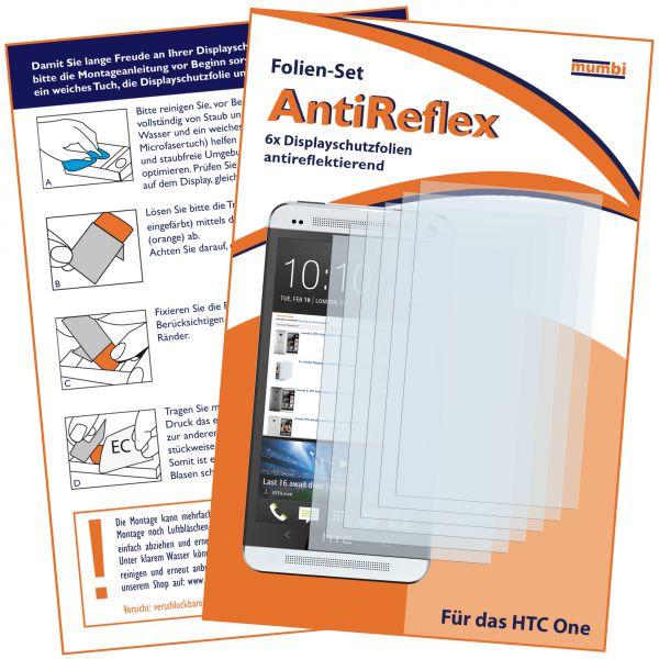 Displayschutzfolie 6 Stck. AntiReflex für HTC One