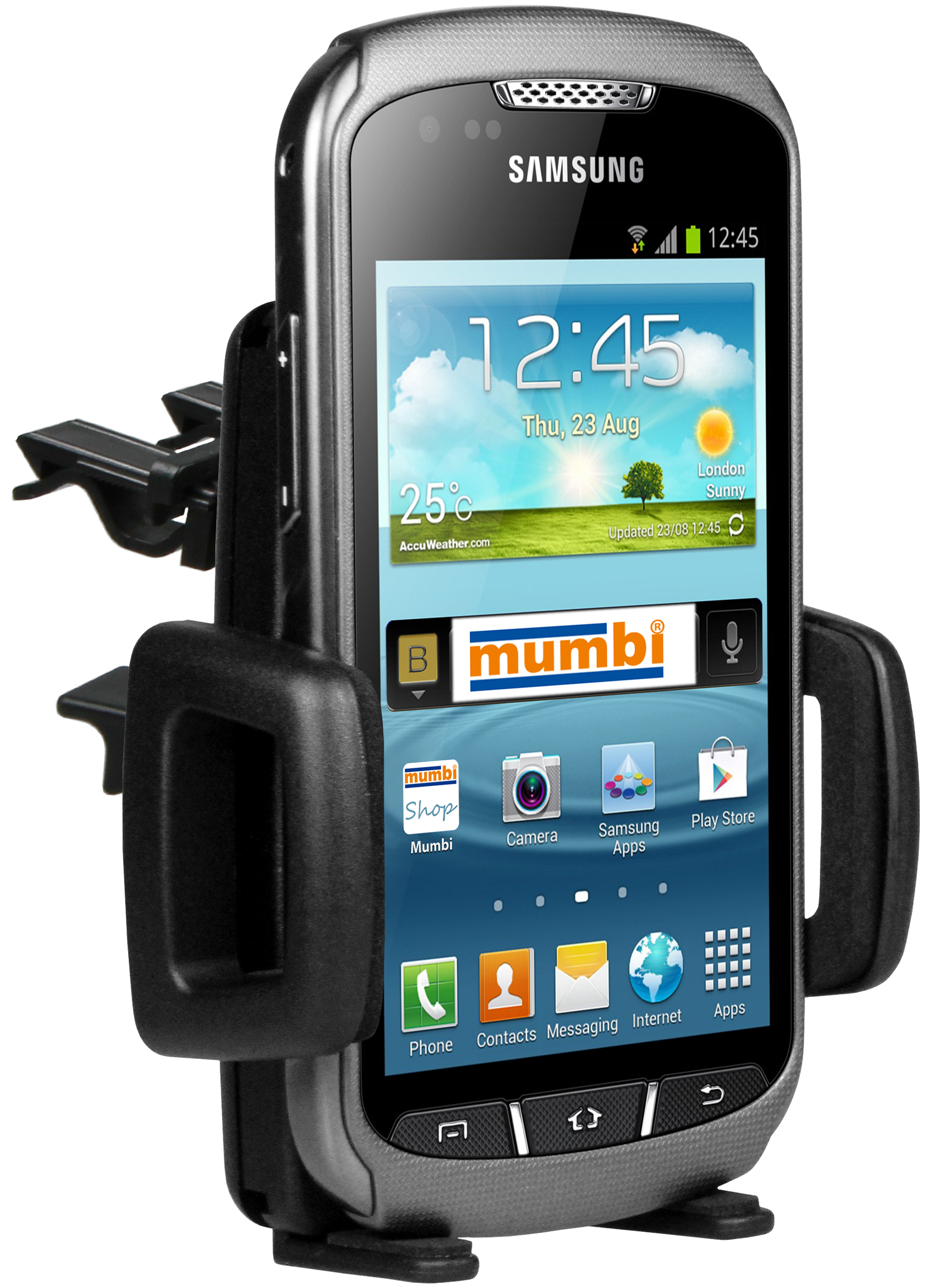 kfz halterung vent mount f r samsung galaxy xcover 2. Black Bedroom Furniture Sets. Home Design Ideas